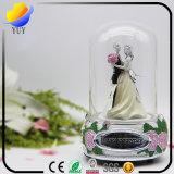 Caixa de música da água do globo da neve dos bonecos de neve de Snowglobe (caixa de música da menina de flor para o presente da promoção)