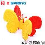 Luvas resistentes ao calor de venda quentes do silicone da forma da borboleta do projeto bonito novo