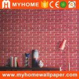 Papel de parede Home material 3D do PVC da sala de visitas moderna do projeto do tijolo do estilo