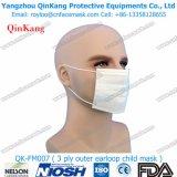 Mascarilla quirúrgica médica no tejida disponible y respirador de partículas para el hospital Qk-FM004