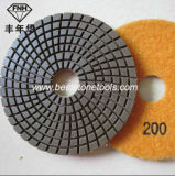 Мраморный полируя пусковая площадка с гибким материалом смолаы (WD-13)