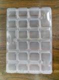 Transparente Wegwerfmehlklöße gezeichnet mit Blasen-Tellersegment