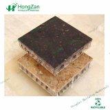 Panneau décoratif en pierre de marbre de nid d'abeilles