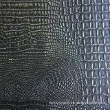 Cuero azul de plata del cocodrilo del Faux