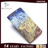 Бумажники держателя пасспорта модельера поставкы изготовления бумажника Bifold