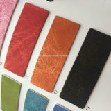 Fancy Design PU Leather Fabric para sapatos Making Hx-S1728