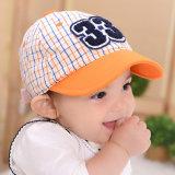 15019 sombrero enarbolado suave del bebé de la verificación de la carta 33