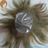 Fertigung indisches Remy Haar-dünne Haut-Haar-Abwechslungs-Systeme 0.03mm-0.09mm