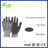 Anti-Acid Nitril Met een laag bedekte Handschoen Polyseter