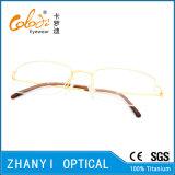 Einfache Halb-Randlose TitanEyewear Brille-Glas-optischer Rahmen (8508)