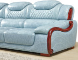 Sofá de couro moderno da chegada nova, sofá do estilo de Europa (A62)