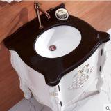 Ying festes Holz-Badezimmer-Schrank-Handarbeit, die Bassin schnitzt