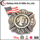 高品質の金属の911記念品のための真鍮の折りえりPin