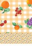 Mais cores que Wedding o Tablecloth impresso PVC Home do retângulo do hotel com revestimento protetor (TJ0022)