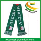 Sciarpa calda lavorata a maglia acrilica su ordinazione del ventilatore di calcio di gioco del calcio di inverno
