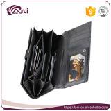 Повелительница выбитая бабочкой бумажника неподдельной кожи бумажника женщин конструкции способа Fani длинняя типа Портмоне