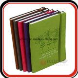 Cuaderno promocional del cuero del diario de la venda de elástico del regalo