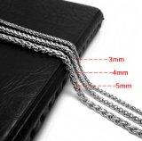 De Zilveren Kleur van het Staal van het Titanium van de Ketting van de Slang van de Halsband van de Juwelen van de manier