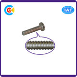 Parafuso principal liso galvanizado Steel/4.8/8.8/10.9 do hexágono do carbono para prendedores da maquinaria/indústria