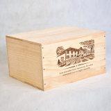 De Buena Calidad Caja De Madera De Pino Para 6 Botellas De Vino, 25 Oz. /Botella