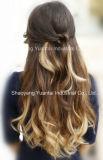(で)人間の毛髪の拡張の完全なヘッド一定18inches-24inchesクリップ