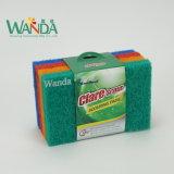 Produits d'entretien de ménage de femme au foyer récurant la garniture de balai pour la fonction de nettoyage