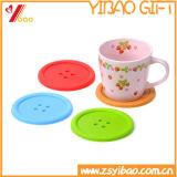 Циновка чашки силикона горячего надувательства цветастая изготовленный на заказ