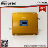 Aumentador de presión dual de la señal del teléfono celular de la venda 900 1800MHz 2g 3G 4G para el hogar y la oficina