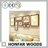 Frame natural do poster da pintura da madeira contínua para a decoração da entrada do hotel