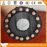 cable de aluminio de la chaqueta de PVC del cable de 5kv el 133% milivoltio Tr-XLPE Mv-105 con UL1072
