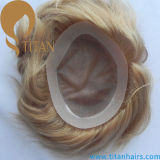 Rmey Cabelo Humano Homens Toupee Hairpiece