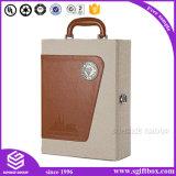 Embalagem personalizada de luxo PU Leather Wine Box