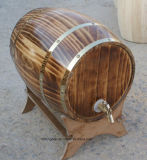 Barril de vino de madera modificado para requisitos particulares fábrica del roble del pino con 5-225L