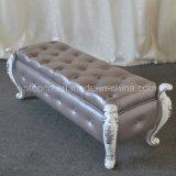 Taburete clásico del dormitorio del cuero del rectángulo del estilo para el sitio (SP-ES101)