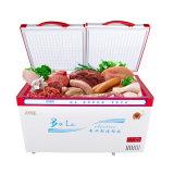 Congelador superior inferior profundo quente da caixa do estar aberto da grande capacidade da venda
