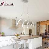 Lâmpada de alumínio branca nova espiral do pendente para a sala de jantar