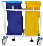 AG-Ss019b con dos por separado la bolsa para polvo Residuos de la carretilla Bin