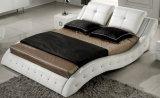 新しく優雅なデザイン寝室のための現代本革のベッド(HC310)
