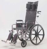 Manaul de acero, descansando, sillón de ruedas, cuero, (YJ-011F)