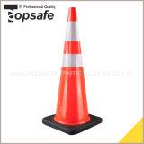 36インチ黒いベースが付いているオレンジPVC円錐形