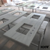 Controsoffitto prefabbricato della cucina della pietra del quarzo di formato su ordinazione