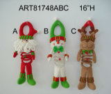 """12 """" Doorknob украшения h Санта, снеговика и эльфа домашний, 3 Asst"""