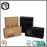 Boîte de empaquetage à vin de papier de carton de carton de guichet ouvert