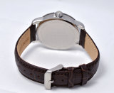 Reloj del Wristband del cuero genuino de la prueba del agua de Mercedes-Benz los 50m