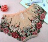 Bragas de las mujeres de la flor de Rose del cordón de la manera de la alta calidad