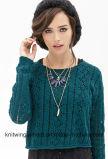 Способ женщин OEM выдалбливает вне параграф зерна кратко свободный Long-Sleeved, котор свитер одевает (W18-505)