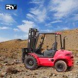 Raues Gelände-Dieselgabelstapler mit 5000kg Perkins Motor