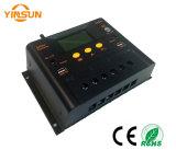 Het zonne Controlemechanisme van de Lader, 50A 48V Automatische Overdracht, USB 5 Output, DC12V Output, LCD Vertoning,