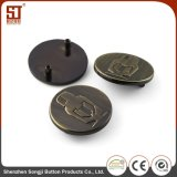 Кнопка изготовленный на заказ легирующего металла способа напечатанная для куртки