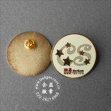 둥근 금관 악기 금속 접어젖힌 옷깃 Pin에 의하여 각인되는 로고 기장 (GZHY-LP-008)